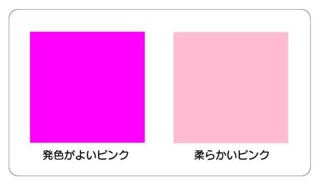 ピンク色の違い
