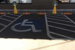 障害者駐車場の広さ