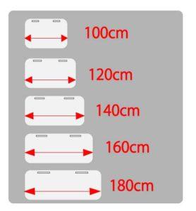 デスク天板の大きさ