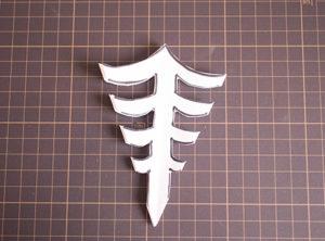 切った折り紙